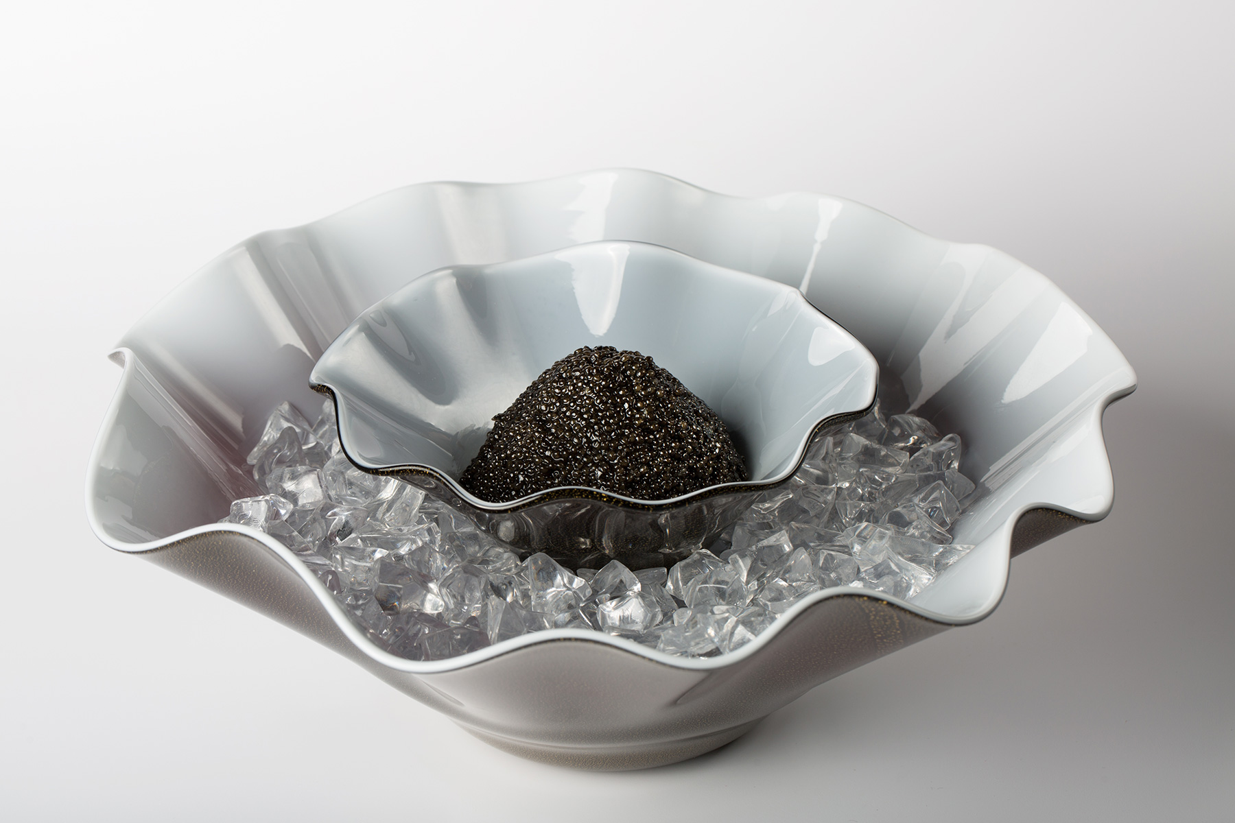 Good Mood – The perfect caviar serving set con Venini & Ars Italica